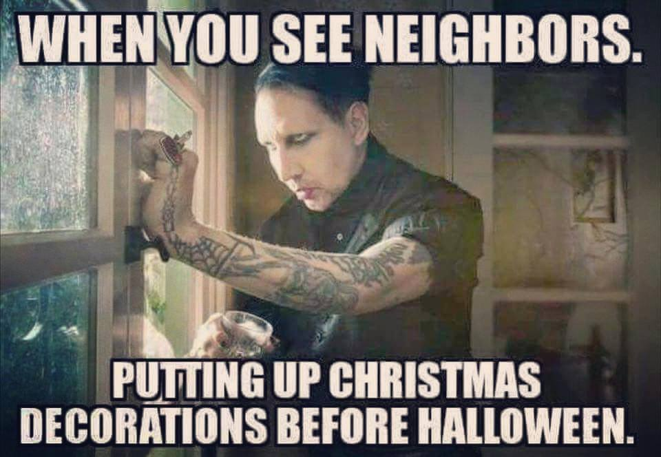 Marilyn Manson meme Christmas Halloween decorations